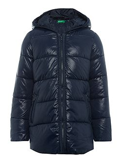 Girls Zip Up Padded Coat With Hood