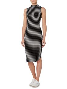 Therapy RIB BODYCON STRIPE DRESS