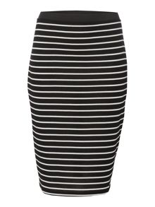 Therapy Rib Pencil Stripe Skirt
