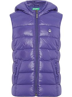 Girls Padded Gilet with Hood