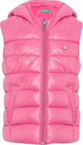 Benetton Girls Padded Gilet with Hood