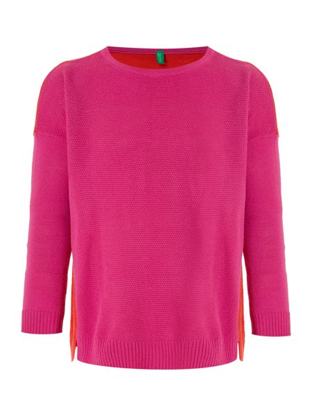 Benetton Girls Crew Neck Jumper