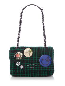 Vivienne Westwood Avon green flap over shoulder bag