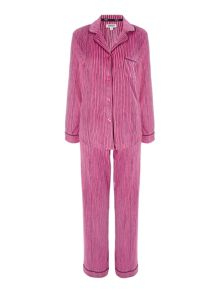 DKNY Exclusive long sleeve fleece pyjama set