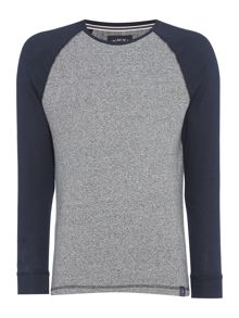 Criminal Aiden Raglan Plain Long Sleeve Top