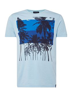 Palm Overlay Graphic Tee