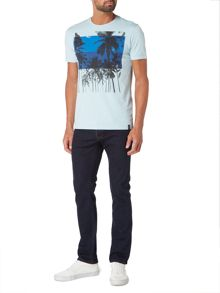Criminal Palm Overlay Graphic Tee