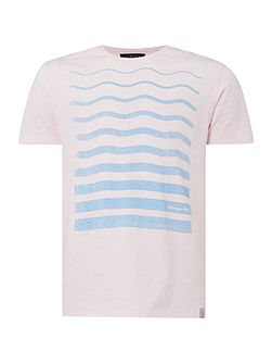 Wave Lines Graphic Tee