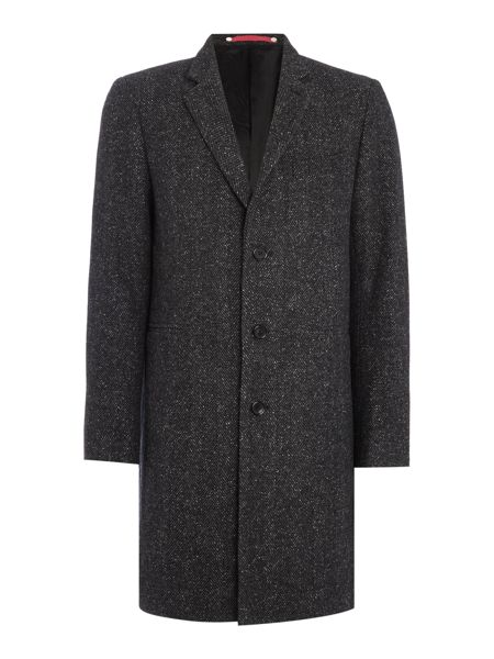 PS By Paul Smith Single Breasted Tailored Melange Twill Coat