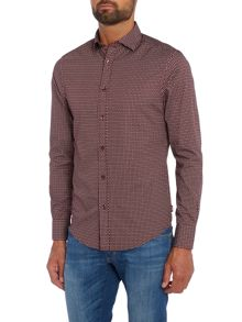 Armani Jeans Regular fit rectangular geo print shirt