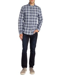 Criminal Peak Textured Gingham Shirt