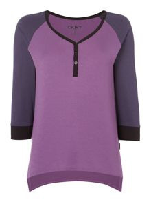 DKNY 3/4 sleeve lounge top