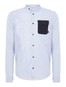 Armani Jeans Regular fit stripe granded collar shirt