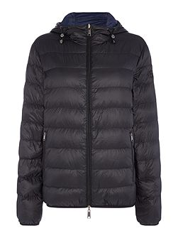 Reversable down padded zip through jacket