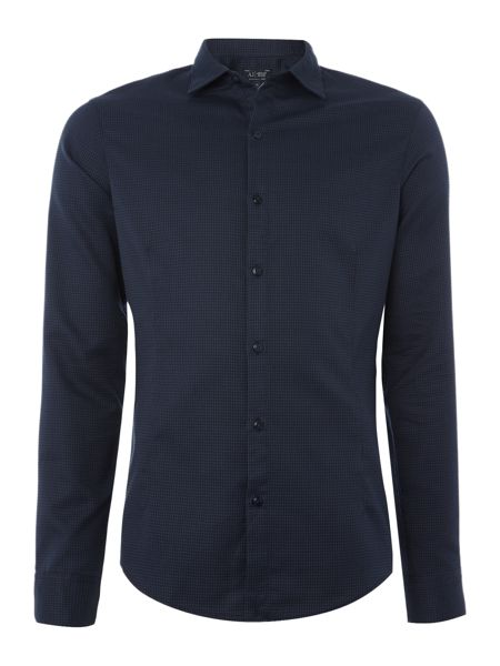 Armani Jeans Regular fit tonal geo print shirt