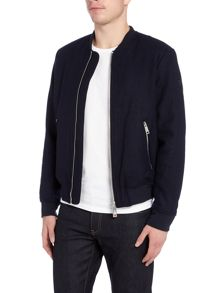 Armani Jeans Melton zip through bomber jacket