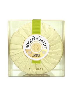 Citron Round Soap in Travel Box 100g