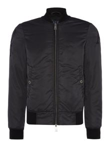 Armani Jeans Eagle back logo zip through bomber jacket