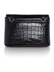 Vivienne Westwood Dorset black flap over cross body bag