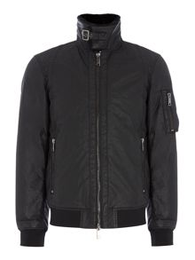Armani Jeans Wax outer faux fur collar jacket