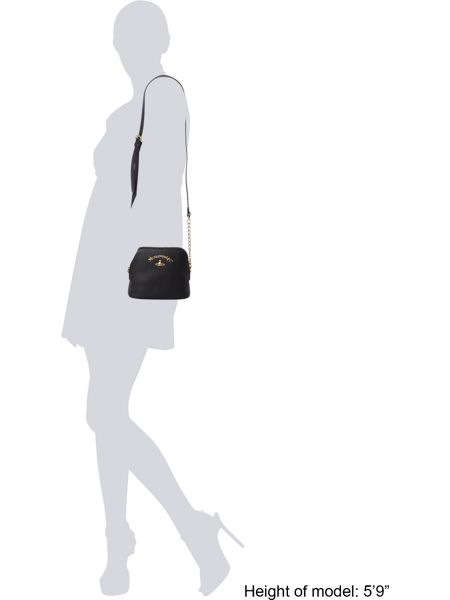 Vivienne Westwood Divina black flap over cross body bag
