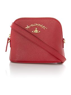 Divina red flap over cross body bag