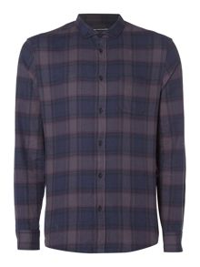 Criminal Rhys Dark Check Shirt