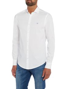 Armani Jeans Regular fit textured patch logo shirt