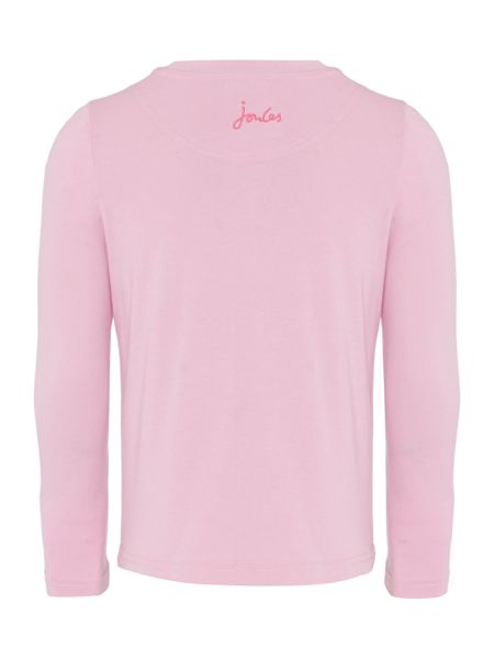 Joules Girls Bunny Hop Print Long Sleeve T-Shirt