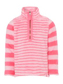 Joules Girls Stripe Half Zip Sweater