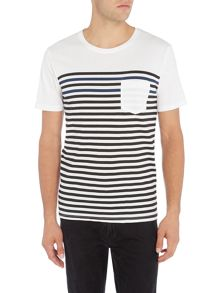 Only & Sons Multi-Stripe Pocket Crew Neck T-shirt