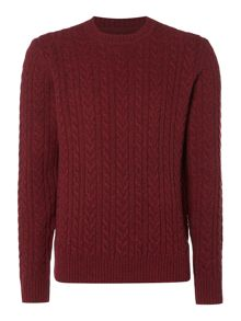 Criminal Ash Cable Crew Neck Jumper