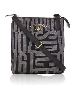 Anglo jacquard black small cross body bag