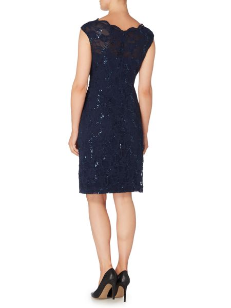 Lauren Ralph Lauren Cap sleeve sequin shift dress