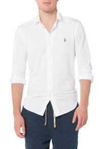 Polo Ralph Lauren Long sleeve pique oxford polo shirt