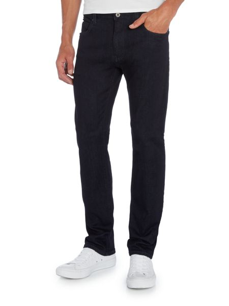 Armani Jeans J45 tapered slim fit dark clean jeans