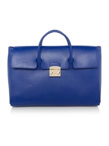 Furla Blue extra large ew tote bag