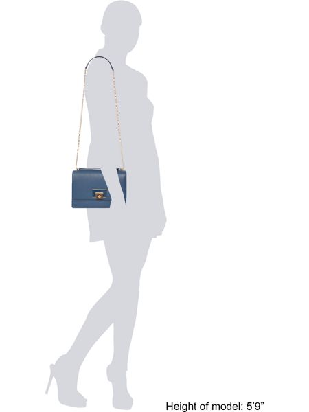 Vivienne Westwood Opio saffiano blue flap over shoulder bag