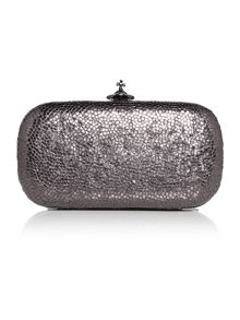 Vivienne Westwood Verona black metallic clutch bag