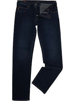 J45 tapered slim fit dark blue jeans