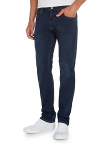 Armani Jeans J45 tapered slim fit dark blue jeans