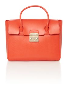 Furla Red medium fold over tote bag