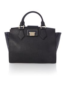 Vivienne Westwood Opio saffiano black medium tote bag