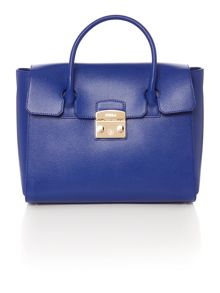 Furla Blue medium fold over tote bag