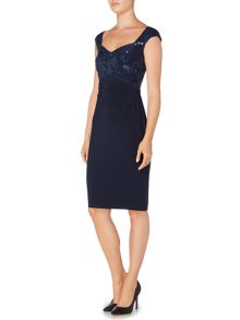 Lauren Ralph Lauren Yari cap sleeve shift dress