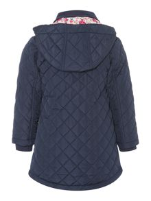 Joules Girls Quilted Hooded Coat