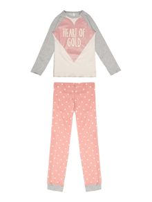 Benetton Girls Long Sleeve Top and Heart of Gold Leggings