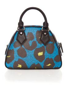 Vivienne Westwood Leporadmania blue medium dome bag