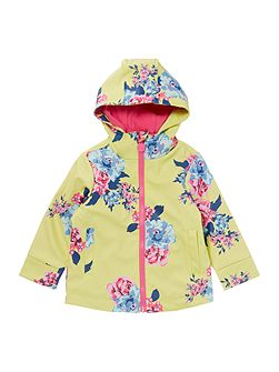 Girls Floral Rubber Coat