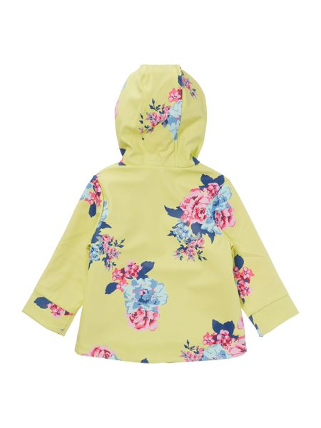 Joules Girls Floral Rubber Coat